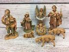 Lot Of 9 Vintage FONTANINI Depose ITALY Nativity Set Jesus Mary Joseph Angel