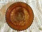 VTG  IMPERIAL WINDMILL WHIMSEY MARIGOLD CARNIVAL GLASS BOWL