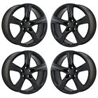 20 CHEVROLET CAMARO SS SATIN BLACK WHEELS RIMS FACTORY OEM SET 5760 5764