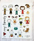 2 Sheets Stick Family Scrapbook Stickers Papercraft Envelope Seal Planner Supply