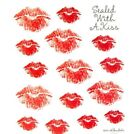 2 Sheets Red Lips Love Scrapbook Stickers Papercraft Planner Supply Valentine
