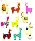 2 Sheets Llama Fiesta Scrapbook Stickers Papercraft Planner Supply Alpaca Party