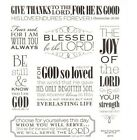 2 Sheets Inspirational Religious Words Faith Stickers Papercraft Bible Journal