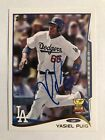 Yasiel Puig Signs Exclusive Autograph Deal with Topps 6