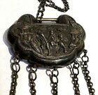 Chinese Tibet Silver Boy Ride Kirin Lucky Amulet With Lock Pendant Necklace