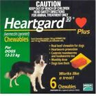 Heart gard Plus 6 Chewable Tablets Dogs 26 to 50 lbs exp 06 21 USPS 1st Class