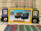 DODGE & SPLATTER Trains w/ CARD Thomas the Tank Engine & Friends Wooden Railway