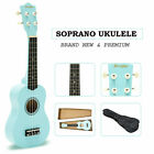 21 Soprano Ukulele Musical Instrument Wood Mini Guitar Baby Blue w Carry Bag