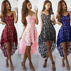 Women's Sling Lace Dress High Low Hemline Formal Eveing Party Cocktail Dresses