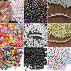 200Pcs 6mm Mixed Alphabet Letter Acrylic Spacer Beads Heart Bead DIY Necklace