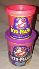 1984 Kenner Real Ghostbusters Ecto Plazm Ectoplasm Play Gel Bundle Two Cans