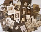 ANTIQUE CHILDREN PORTRAITS LOT VINTAGE STUDIO PHOTOGRAPHS BABIES BOYS GIRLS