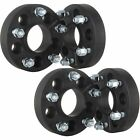 4 QTY 20mm 5x45 Black Hubcentric Wheel Spacers Adapters 12x125 Studs Fits Niss