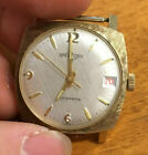 Beautiful Spectors Q Gold Filled Automatic Square Calendar Watch Working RARE