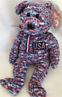 Ty Beanie Baby USA 2000 Mint Tag Red White & Blue   Patriotic Bear   606