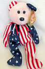 Ty Beanie Baby Spangle in Red White & Blue  born June 14, 1999  606