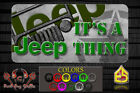 Its a Jeep Thing License Plate Sublimation printed Metal plate Wrangler CJ
