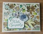 Stampin Up Sympathy Greeting Card Handmade First Frost
