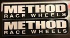 METHOD RACE WHEELS 2 LARGE decals stickers 3X12FREE SHIPPING offroad utv jeep
