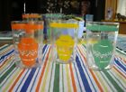 Vintage Fiesta Go-Along Mexican Pots Tumblers Glasses~Red Yellow Green~Set of 3