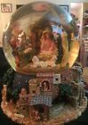 Grandeur Noel Musical Water Globe Nativity Scene Enchanting Holiday Scene