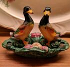 Vintage 2 pairs Rooster Hen Duck Chicken Salt  Pepper Shakers Lot 5 Pcs base