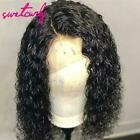 Swetcurly Hair 13x6 Lace Front Curly Synthetic Wigs For Black Women Heat