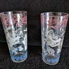 2 Vintage Ice Tea Tumbler Highball Glasses 1950's Retro  Kitchen Utensils Design