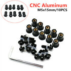 Motorcycle Motorbike Windscreen Windshield Fairing Well Nut Bolt Screw 10x M5