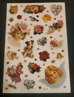 Vintage American Greetings Victorian style stickers roses hearts birds girls