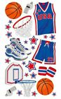 Foil Basketball Sports Team Stickers Scrapbook Planner Papercraft Craft Party
