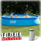 Inflatable Swimming Pool Intex 13x33 w Pump Kid Family Round Above Ground