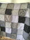New Throw Size Rag Quilt Handmade you Choose Colors Flannel Or Cotton
