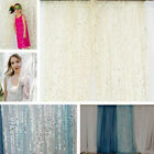 4x10FT in Sheer Sequin Backdrop Draping 5 colors Wedding Home Decor Baby Shower