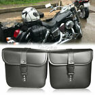 PU Leather Saddle Bag Storage Fit Suzuki Intruder Volusia VS VL 700 750 800 1400