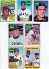 Vintage 1969 Topps baseball GIANTS 28 card complete team set 4 HOF 5 RC