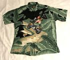 Harley Davidson Tori Richard Men XL Hawaiian Aloha Shirt USA RARE PRINT EUC