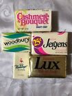 Vintage Bar Soap Collectible Lot Woodbury Lux Cashmere Bouquet Jergens Hilton