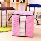 Large Foldable Storage Bag Clothes Blanket Quilt Closet Sweater Box Pouch Bag WE
