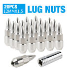 20pcs Thread Forged Stainless Steel M12x15 Wheel Lug Nuts For Honda Acura Chevy