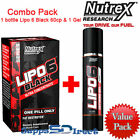 Nutrex LIPO 6 BLACK Ultra Concentrate 60cps + Lipo 6 Defining Gel Combo Pack