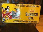 Sunoco Oil Disney Porcelain Sign