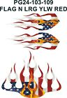 Flame Graphics American Flag Decal Kit Golf Cart Utv Atv Mower 4x4 St2