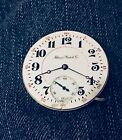 VINTAGE ILLINOIS WATCH CO GETTY MODEL 16S HC POCKET WATCH MOVEMENT RUNNING
