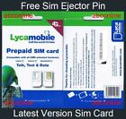 LYCAMOBILE PREPAID 3 IN 1 SIZE SIM CARD KIT FOR ANY GSM UNLOCKED CELL PHONE NEW