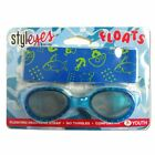 Style Eyes Pool Swimming Goggles Floating Neoprene Strap BLUE 7+ Youth Floats Ki