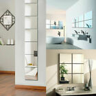 9pcs 3D Wall Stickers Square Mirror Mosaic Tile DIY Decal Home Room Decoration