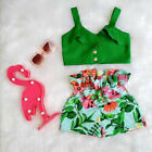 US Toddler Kids Baby Girls T shirt Vest Tops + Shorts Outfits Summer Clothes Set