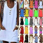 Women Sleeveless Casual Tunic Dress Summer Beach Holiday Short Mini Sundress 5XL