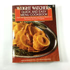 Quick and Easy Menu Cookbook by Weight Watchers Staff 1989 Paperback